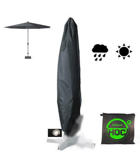 CUHOC Parasolhoes staande parasol 175 CM/ Beschermhoes Parasol / Afdekhoes Parasol Zwart Ø28x175xØ50 cm