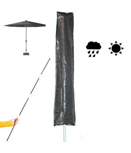 COVER UP HOC Basic (sta/stok) Parasolhoes  met stok en  rits  230x30/57 cm
