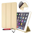 HEM Apple iPad 9.7 2017/2018 Hoes - Book Cover Siliconen - Vouwbaar - Goud -met handige Hoesjesweb touchscreenpen!