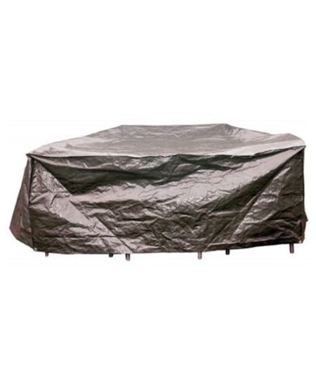 COVER UP HOC Basic Beschermhoes Ronde Tuinset  200x80 cm (diameter x hoogte)-Ronde tuinsethoes Grijs