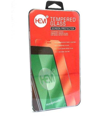 HEM Samsung J6 Plus Screenprotector / Tempered Glass / Glasplaatje  voor vlakke gedeelte scherm