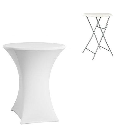 HOC Witte Statafelhoes / Statafelrok / Tafelrok ∅80 x 110 cm