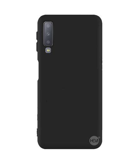 HEM Samsung A7 2018 siliconenhoesje mat zwart Siliconen Gel TPU / Back Cover / Hoesje