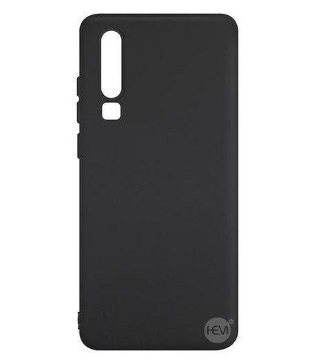 HEM Huawei P30 Pro siliconenhoesje Mat Zwart Siliconen Gel TPU / Back Cover / Hoesje