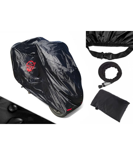 CUHOC Piaggio Mp3 COVER UP HOC Motorhoes stofvrij / ademend / waterafstotend Red Label