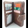 HEM  Samsung A7 2018 - Bronzed Brown - Pasjeshouder - Telefoonhoesje met extra flap voor 9 pasjes