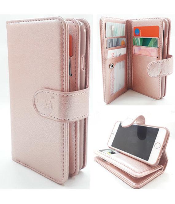 HEM Samsung Note 8 - Rose Gold - Pasjeshouder - Telefoonhoesje met extra flap voor 9 pasjes