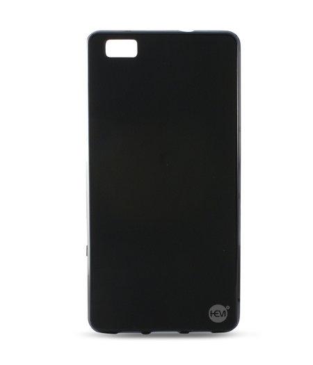 HEM Huawei P8 Lite siliconenhoesje Mat Zwarte Siliconen Gel TPU / Back Cover / Hoesje