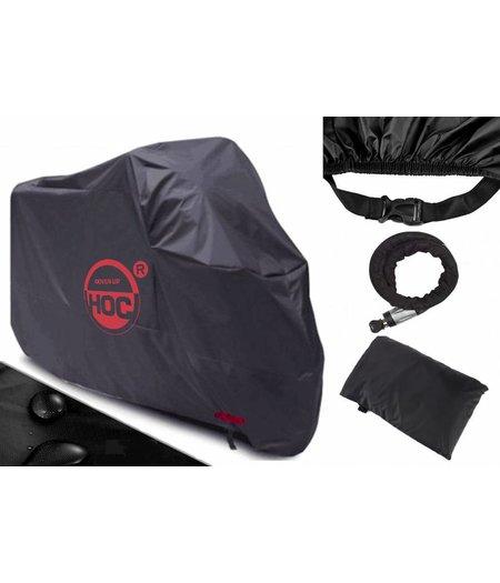 COVER UP HOC Scooterhoes Vespa zonder scherm (L) stofvrij / ademend  / waterafstotend Red Label