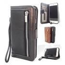 HEM iPhone 11 Pro Zwarte Wallet / Book Case / Boekhoesje/ Telefoonhoesje / Hoesje met pasjesflip en rits voor kleingeld