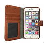 HEM Suede look gevlamd bruin boekhoesje iPhone 11 Pro Max met vakje voor pasjes geld en een fotovakje en polsbandje