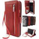 HEM Apple iPhone XS Max Rode Wallet / Book Case / Boekhoesje/ Telefoonhoesje / Hoesje met pasjesflip en rits voor kleingeld
