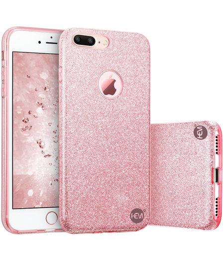 HEM Apple iPhone 7 Plus/8 Plus - Roze Switch Glitter hoesje - Anti Shock 1000 in 1 hoesje