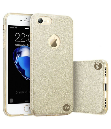 HEM Apple iPhone 7 Plus/8 Plus - Gouden Switch Glitter hoesje - Anti Shock 1000 in 1 hoesje