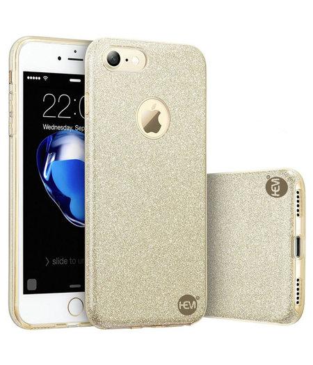 HEM Apple iPhone 7 - Gouden Switch Glitter hoesje - Anti Shock 1000 in 1 hoesje