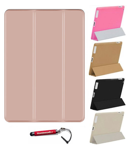 HEM HEM Apple iPad 10.2 (2019) Smart / Vouw Hoes Rose Gold met Hoesjeswebstylus