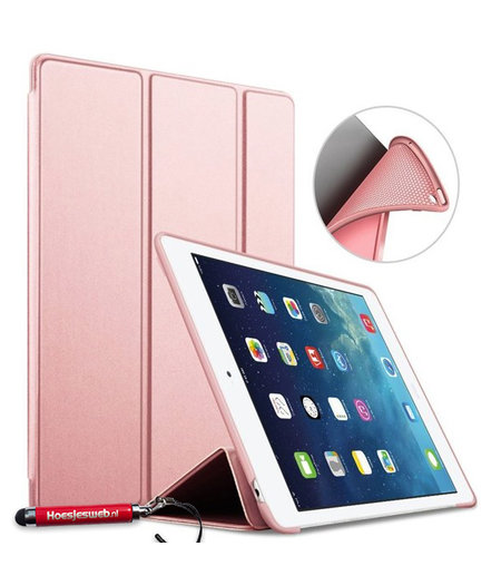 HEM HEM Apple iPad Air Bookcover Rose Gold met Siliconenachterkant en hoesjeswebstylus