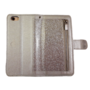 HEM HEM Samsung Galaxy S9 Plus - Magic Glitter Shiny Silver - Leren Rits Portemonnee Telefoonhoesje