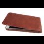HEM HEM Apple iPhone 5/5S/SE - Luxe Bronzed Brown - Leren Flipcover -  Telefoonhoesje Openslaand