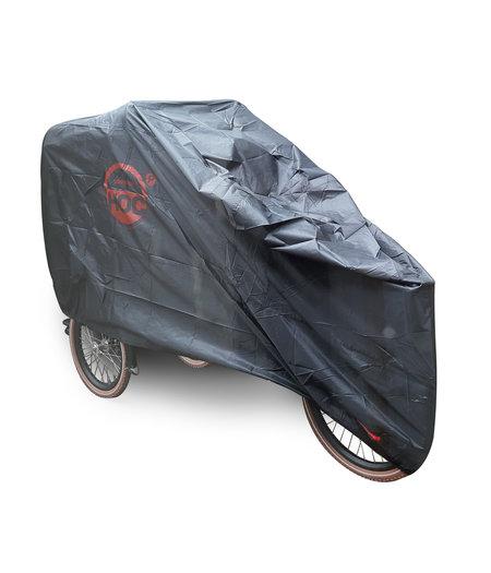 CUHOC COVER UP HOC Bakfiets hoes zwart (met huif) - XL - 245x105x125cm - stofvrij / ademend / waterafstotend - Red Label met slotgaten