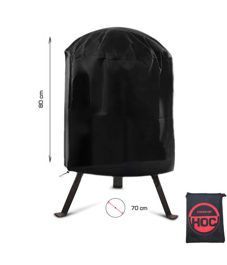 COVER UP HOC COVER UP HOC RED BBQ hoes rond - 70x80 cm - Barbecue hoes -  afdekhoes ronde bbq