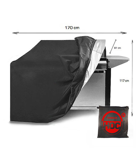 COVER UP HOC COVER UP HOC RED BBQ hoes 170x61x117 cm  Barbecue hoes/ afdekhoes bbq /  met trekkoord