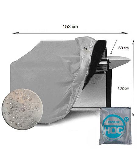 COVER UP HOC COVER UP HOC Diamond bbq hoes waterdicht-153x63x102 cm - met Stormbanden en Trekkoord