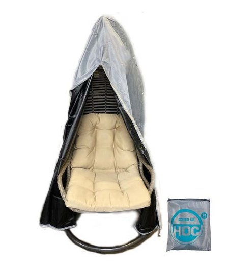 CUHOC Diamond Beschermhoes Hangstoel 100x100x200 - hoes voor Hangstoel met rits van boven tot onderaan en trekkoord