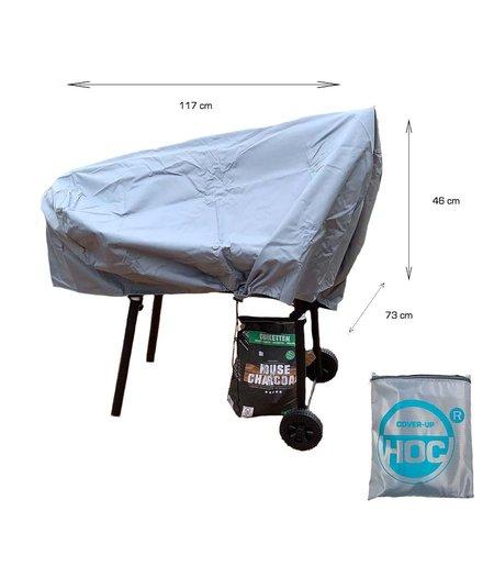 CUHOC COVER UP HOC Diamond Smoker bbq hoes waterdicht-117x73x46 cm - met Stormbanden en Trekkoord