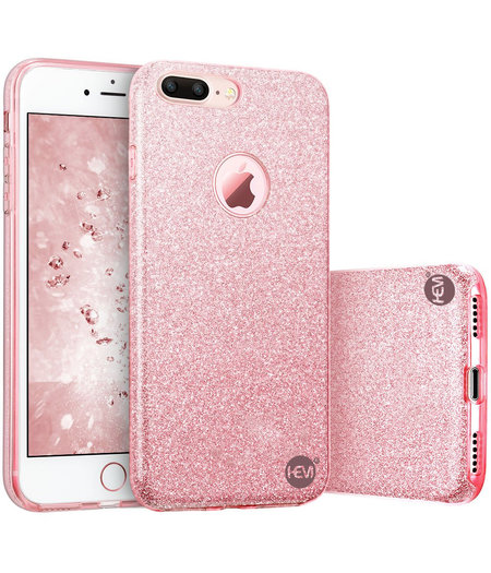 HEM Apple iPhone SE 2020 - Roze Switch Glitter hoesje - Anti Shock 1000 in 1 hoesje