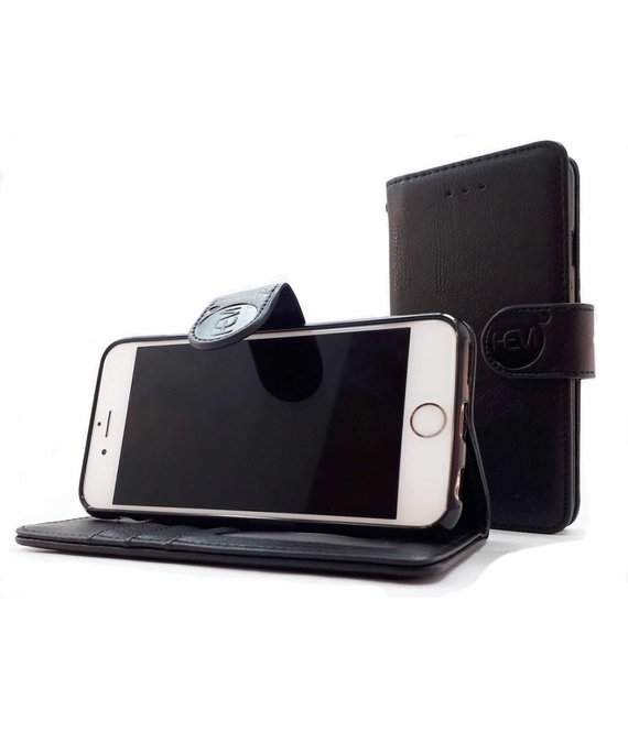 HEM HEM Samsung Galaxy S20 - Antique Black Leren Portemonnee Hoesje - Lederen Wallet Case TPU meegekleurde binnenkant- Book Case - Flip Cover - Boek - 360º beschermend Telefoonhoesje