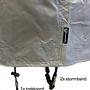 COVER UP HOC COVER UP HOC Diamond bbq hoes voor Arpe Kamado  - Waterdicht met Stormbanden en Trekkoord