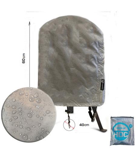 CUHOC COVER UP HOC Diamond bbq hoes rond - 40x60 cm - Waterdicht met Stormbanden en Trekkoord