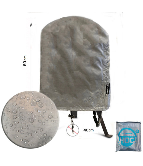 COVER UP HOC COVER UP HOC Diamond bbq hoes voor Moos Kamado Grill - Waterdicht met Stormbanden en Trekkoord