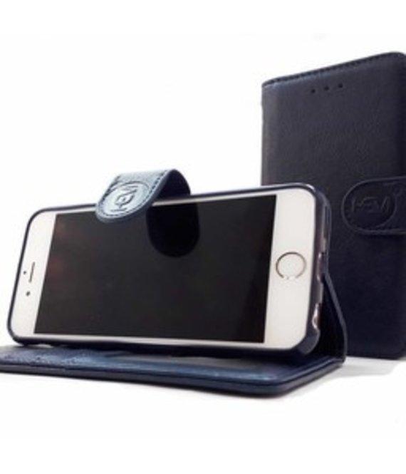 HEM Samsung Galaxy S9 Plus - Marine Blue Leren Portemonnee Hoesje - Lederen Wallet Case TPU meegekleurde binnenkant- Book Case - Flip Cover - Boek - 360º beschermend Telefoonhoesje