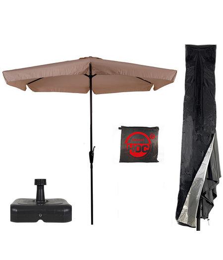 CUHOC Parasol + Parasolvoet + Parasolhoes (  Ecru - vulbare parasolvoet - CUHOC Parasolhoes )  Super COMBIDEAL