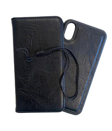 HEM iPhone 11 Pro DOUBLE CATCH Zwarte Wallet iPhone 11 Pro/ Book Case iPhone 11 Pro / Boekhoesje iPhone 11 Pro / Telefoonhoesje iPhone 11 Pro / Hoesje met pasjesflip en los magnetisch telefoonhoesje