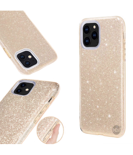 HEM Apple iPhone 12 Mini Glitter Goud Siliconen Gel TPU / Back Cover / Hoesje iPhone 12  Mini