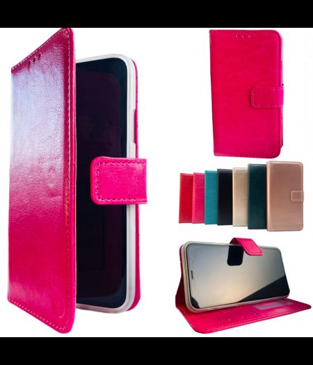 HEM Apple iPhone 12 Pro Max Roze Wallet / Book Case / Boekhoesje/ Telefoonhoesje / Hoesje iPhone 12 Pro Max met vakje voor pasjes, geld en fotovakje