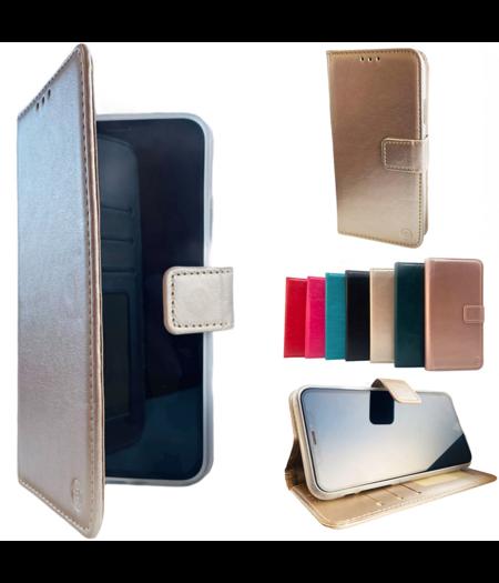 HEM Apple iPhone 12 Gouden Wallet / Book Case / Boekhoesje/ Telefoonhoesje / Hoesje iPhone 12  met vakje voor pasjes, geld en fotovakje