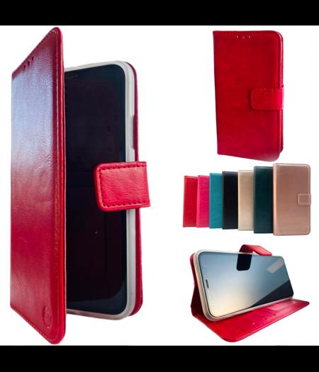 HEM Apple iPhone 12 Pro Max Rode Wallet / Book Case / Boekhoesje/ Telefoonhoesje / Hoesje iPhone 12 Pro Max met vakje voor pasjes, geld en fotovakje
