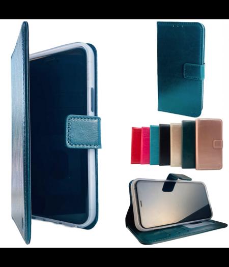 HEM Apple iPhone 12 Mini Donker Groene Wallet / Book Case / Boekhoesje/ Telefoonhoesje / Hoesje iPhone 12  Mini met vakje voor pasjes, geld en fotovakje