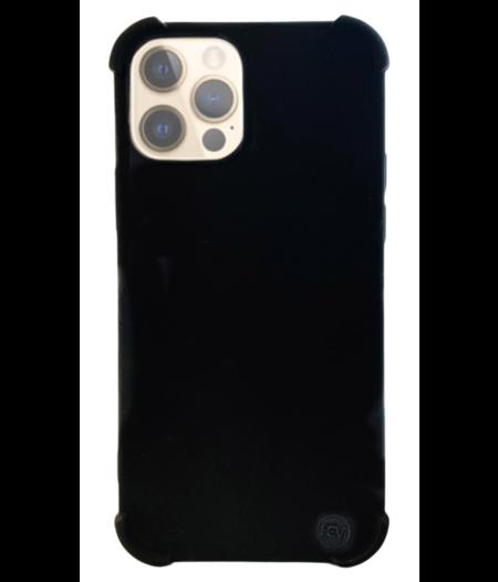 Apple iPhone 12 Pro hoesje Shockproof - mat zwart hoesje iPhone 12 Pro - hoesje met verdikte randen voor de iPhone 12 Pro