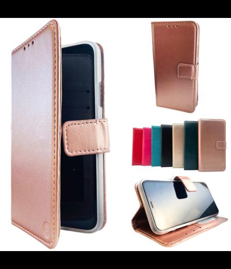 Apple iPhone X/XS Rose Gold Wallet / Book Case / Boekhoesje/ Telefoonhoesje / Hoesje iPhone X/XS met vakje voor pasjes, geld en fotovakje