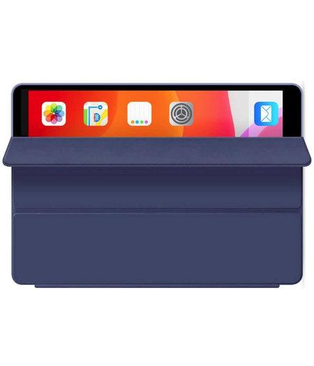 HEM Hoesje voor Apple iPad Air 2020 -  Hoesje voor iPad Air 4 - Book Cover Siliconen - Vouwbaar - Donkerblauw -met handige Hoesjesweb touchscreenpen!- iPad 10.9