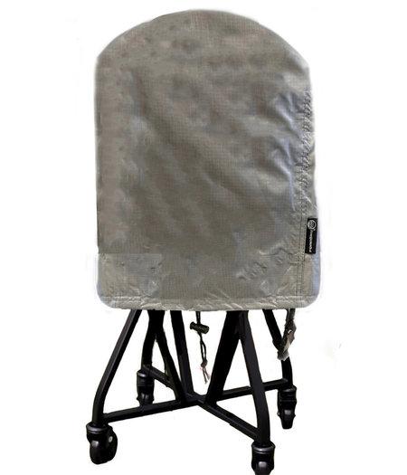 CUHOC COVER UP HOC Diamond bbq hoes rond -65x70 cm - Waterdicht met Stormbanden en Trekkoord