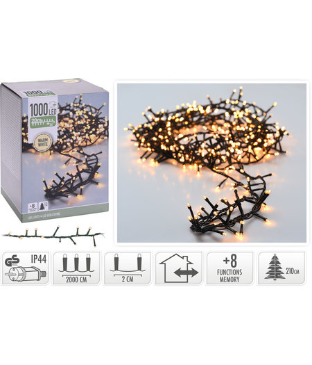 andere ean Micro Cluster 1000 LED's - 20 meter - warm wit