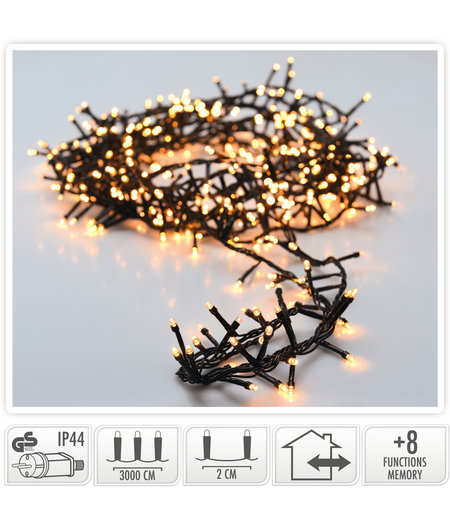 andere ean Micro Cluster 1500 LED's - 30 meter - warm wit