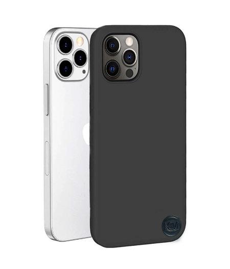 Apple iPhone 13 Pro Mat Zwart Siliconen Gel TPU / Back Cover / Hoesje iPhone 13 Pro