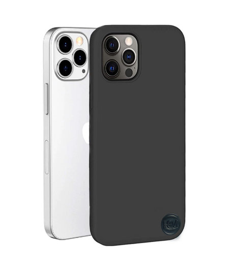 Apple iPhone 13 Pro Max Mat Zwart Siliconen Gel TPU / Back Cover / Hoesje iPhone 13 Pro Max